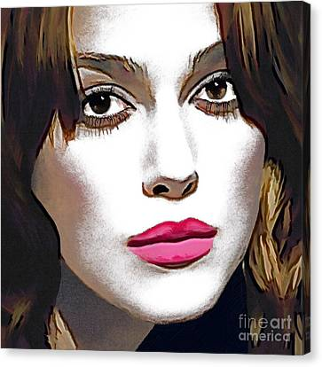Keira Knightley Portrait Canvas Print by Andre Drauflos