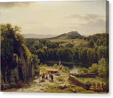 Landscape In The Harz Mountains Canvas Print by Thomas Worthington Whittredge
