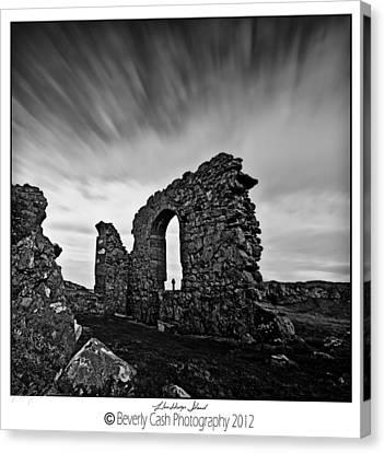Llanddwyn Island Ruins Canvas Print by Beverly Cash
