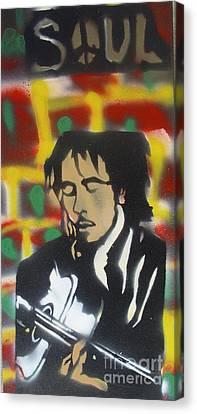 First Amendment Canvas Print -  Marley Soul Guitar by Tony B Conscious