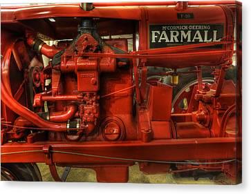 Mccormick Tractor - Farm Equipment  - Nostalgia - Vintage Canvas Print by Lee Dos Santos