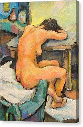Nude Painting 2 Canvas Print by Alfons Niex