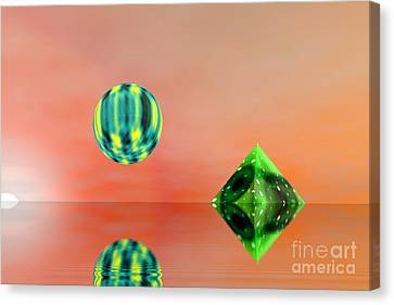 Planet And Piramid Canvas Print by Odon Czintos