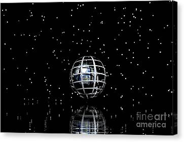 Planet And Stars Canvas Print by Odon Czintos
