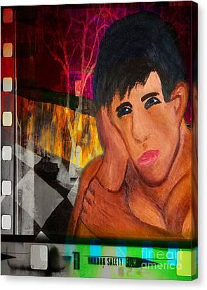Portrait Of A Man 4 Canvas Print by Emilio Lovisa