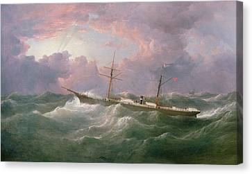 Portrait Of The Lsis A Steam And Sail Ship Canvas Print