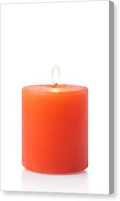 Healthy-lifestyle Canvas Print -  Red Candle by Atiketta Sangasaeng
