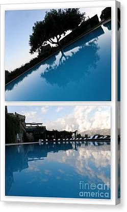 Canvas Print featuring the photograph  Reflection. Collage by Tanya  Searcy
