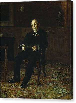 Robert M. Lindsay Canvas Print by Thomas Cowperthwait Eakins