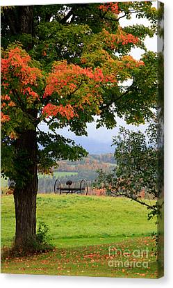 Canvas Print featuring the photograph  Scenic New England In Autumn by Karen Lee Ensley