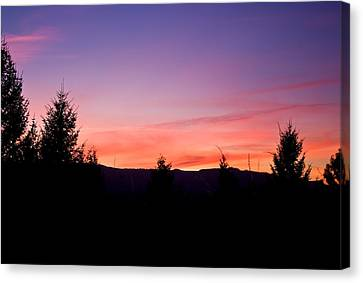 Silhouette Serenity Canvas Print by Tyra  OBryant