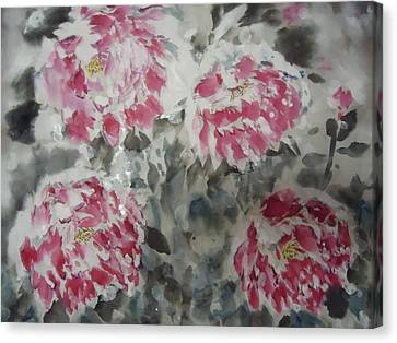 Snow Flower 01 Canvas Print by Dongling Sun
