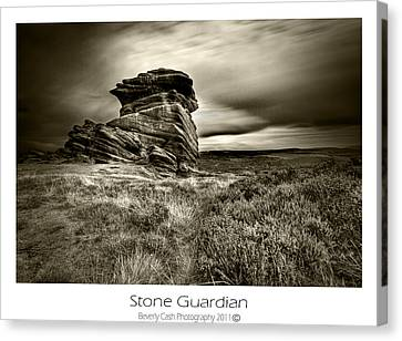 Canvas Print featuring the photograph  Stone Guardian by Beverly Cash