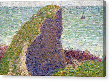 Study For Le Bec Du Hoc Canvas Print by Georges Pierre Seurat