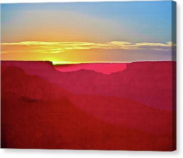 Sunset At Grand Canyon Desert View Canvas Print by Bob and Nadine Johnston