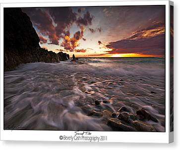 Sunset Tides - Porth Swtan Canvas Print