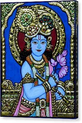 Etc. Canvas Print -  Tanjore Painting by Vimala Jajoo
