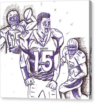 Tebow Time Let's Go  Canvas Print by HPrince De Artist