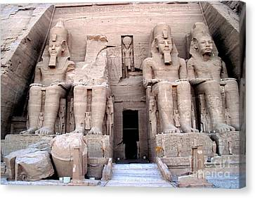 Temple Of Abusimbel Canvas Print by Luis and Paula Lopez