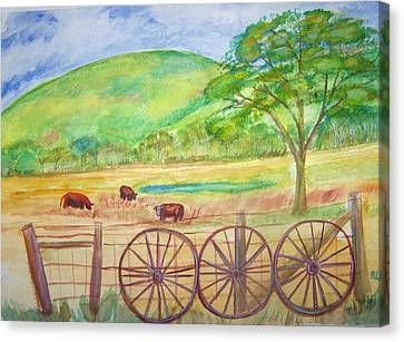 The Cattle Gap Canvas Print by Belinda Lawson