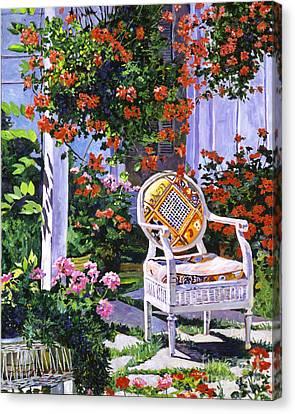 The Sunchair Canvas Print by David Lloyd Glover