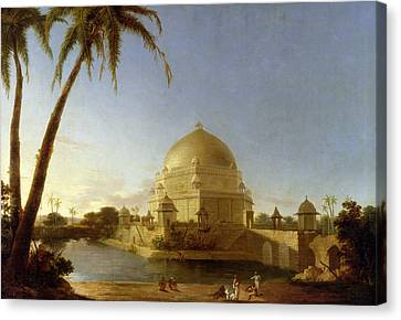Tomb Of Sher Shah Canvas Print by D Robert