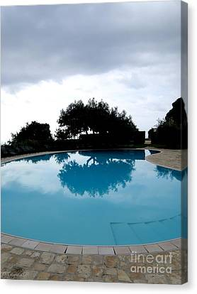 Canvas Print featuring the photograph  Tree At The Pool On Amalfi Coast by Tanya  Searcy