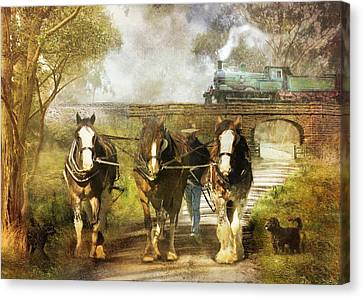Under Our Own Steam Canvas Print by Trudi Simmonds