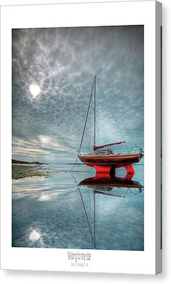 Canvas Print featuring the photograph  Waiting For The Tide by Beverly Cash