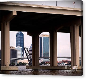 Welcome To Jacksonville Canvas Print by Richard Burr