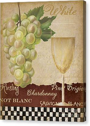 White Wine Collage Canvas Print