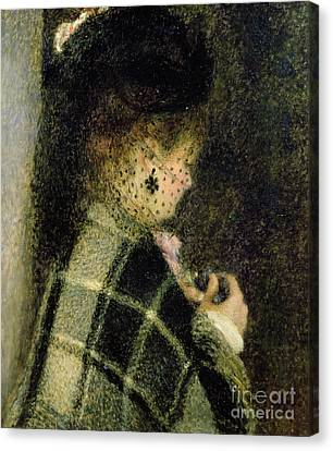 Young Woman With A Small Veil Canvas Print