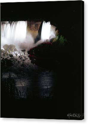 Niagara Falls Canvas Print - 02 Niagara Falls Quiet Thunder by Michael Frank Jr