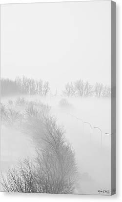 023 Buffalo Ny Weather Fog Series Canvas Print by Michael Frank Jr