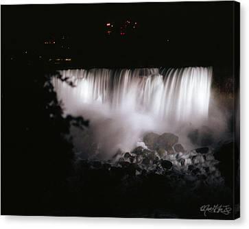 Niagara Falls Canvas Print - 04 Niagara Falls Quiet Thunder by Michael Frank Jr