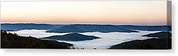0710-0037 Sunrise At Firetower Road Canvas Print by Randy Forrester