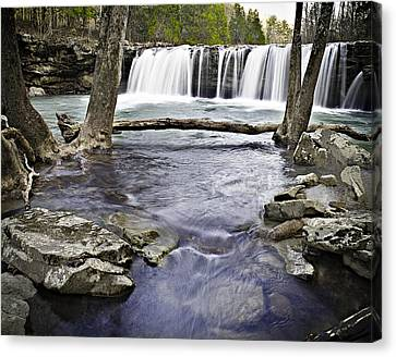 0804-3327 Falling Water Falls 1 Canvas Print by Randy Forrester