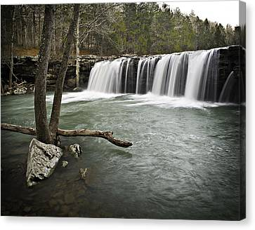 0805-0070 Falling Water Falls 3 Canvas Print by Randy Forrester