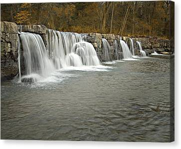 0902-6916 Natural Dam 1 Canvas Print by Randy Forrester