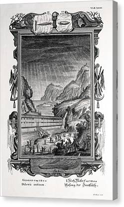 1731 Johann Scheuchzer Noah's Ark Flood Canvas Print by Paul D Stewart