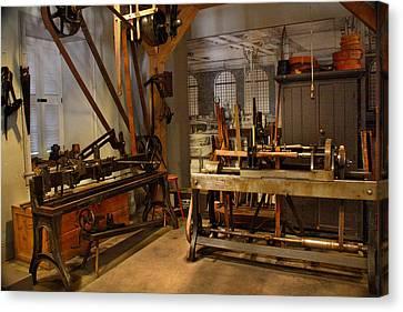 18th Century Machine Shop Canvas Print by Judi Quelland