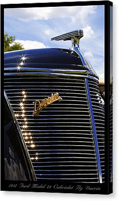 Canvas Print featuring the photograph 1937 Ford Model 78 Cabriolet Convertible By Darrin by Gordon Dean II