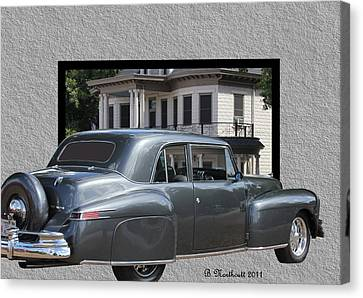 1947 Lincoln Continental Coupe Canvas Print by Betty Northcutt