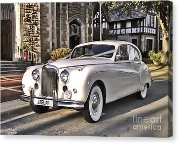Canvas Print featuring the photograph 1959 Jaguar by Elizabeth Coats