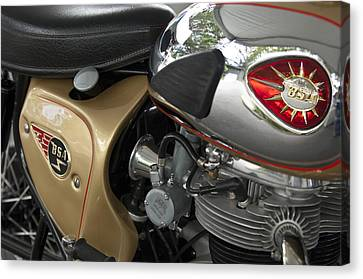 1966 Bsa 650 A-65 Spitfire Lightning Clubman Motorcycle Canvas Print by Jill Reger