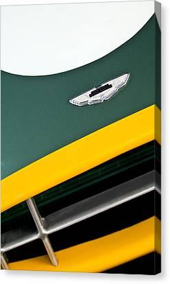 1993 Aston Martin Dbr2 Recreation Hood Emblem Canvas Print by Jill Reger