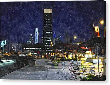 30th Street Station Plaza Canvas Print