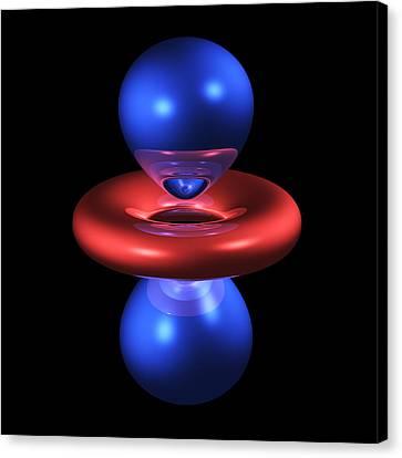 3dz2 Electron Orbital Canvas Print by Dr Mark J. Winter