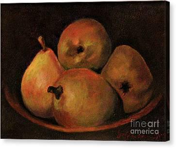 4 Pears Canvas Print