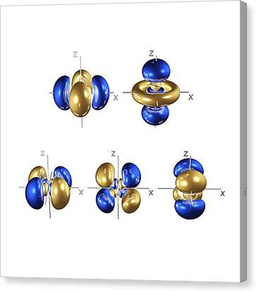 Electron Orbital Canvas Print - 4d Electron Orbitals by Dr Mark J. Winter